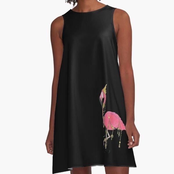 One Fancy Flamingo A-Line Dress