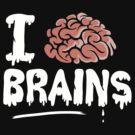 I Love Brains, Halloween Zombie Teacher by BootsBoots