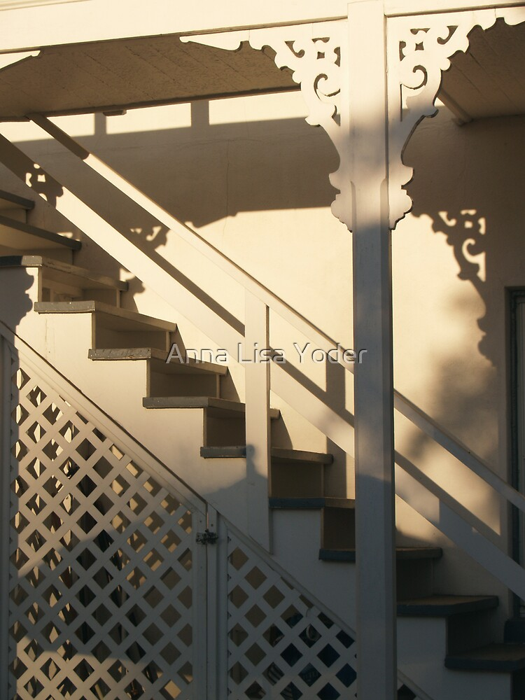 Stairwell in Sunlight and Shadow by Anna Lisa Yoder