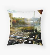 Manchester Appartment View Throw Pillow