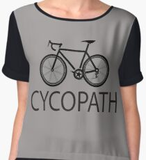 Cycling Funny Design - Cycopath  Women's Chiffon Top