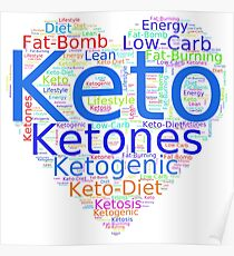 I Love KETO - Unique and Fun Products and Apparel Poster