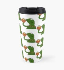 Kermit Sipping Tea Meme King but That's None of my Business Travel Mug