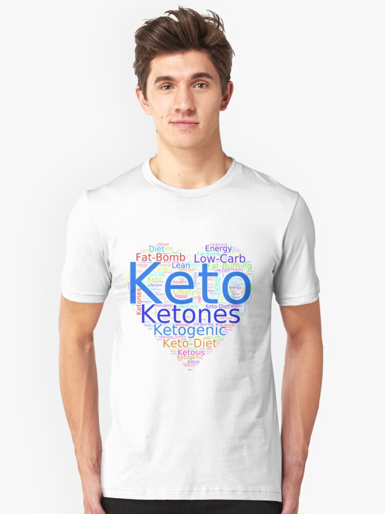 "I Love KETO - Unique and Fun Products and Apparel"" T-shirt by LolaAndJenny  