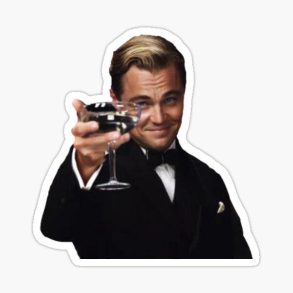 Leo como Jay Gatsby Pegatina