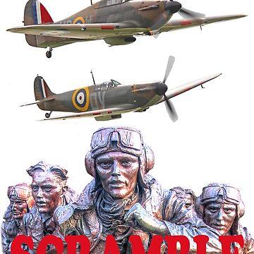 Battle Of Britain Tee Shirt - Scramble by Arrowman