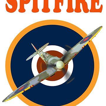 Spitfire Tee Shirt 2 by Arrowman