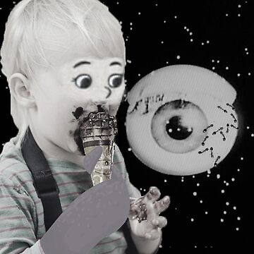 Kid Eating Ice Cream in Outerspace by 53JSams