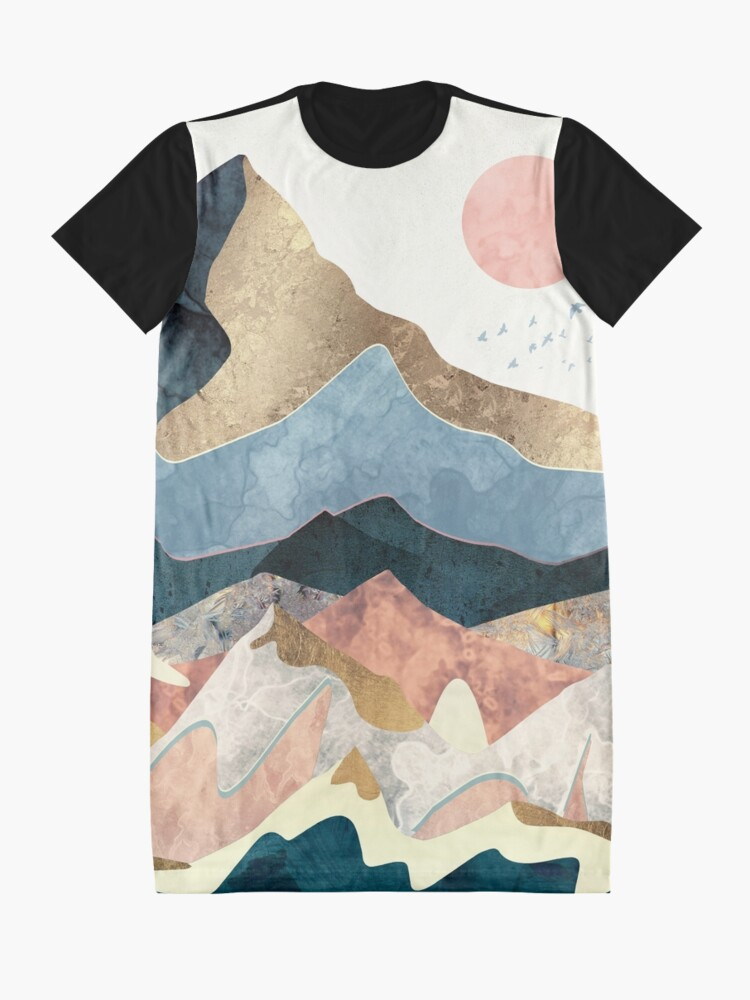Alternate view of Golden Peaks Graphic T-Shirt Dress