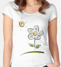 Welcome Sunshine ~ By Ernie Kasper Women's Fitted Scoop T-Shirt