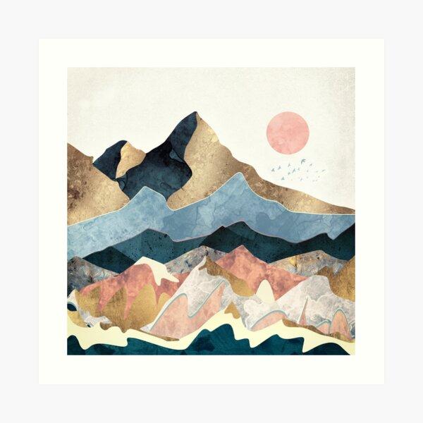 Golden Peaks Art Print