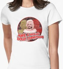 HOLLY DOLLY CHRISTMAS Women's Fitted T-Shirt