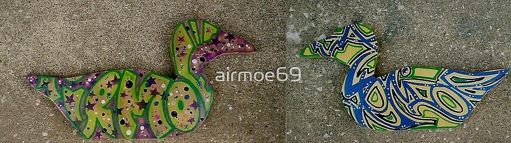 the graffiti duck! by airmoe69