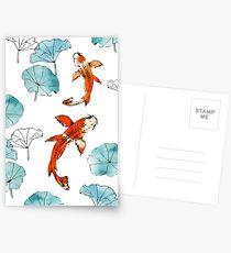 Waterlily koi Postcards