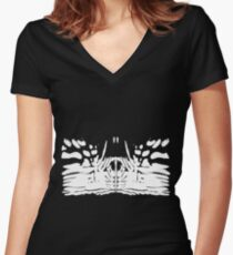 Pulsing butterfly wings Circa 1963 Women's Fitted V-Neck T-Shirt