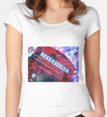 Red telephone Women's Fitted Scoop T-Shirt