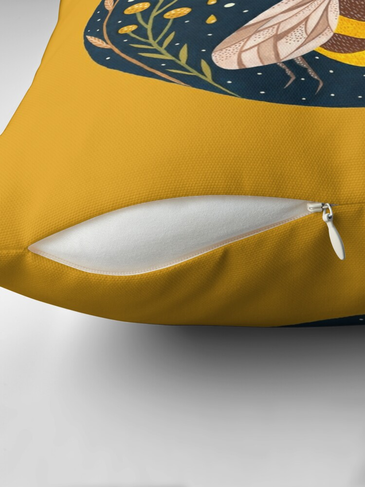 Alternate view of Harvester of gold Throw Pillow