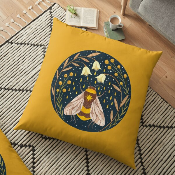Harvester of gold Floor Pillow