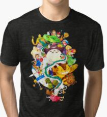 Childhood Memories Collage Tri-blend T-Shirt