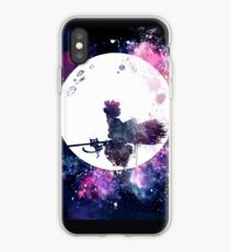Little Witch Flying Over Moon iPhone Case