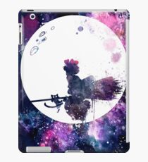 Little Witch Flying Over Moon iPad Case/Skin