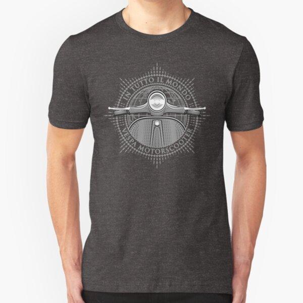 Vespa - In Tutto Il Mondo (grey) Slim Fit T-Shirt