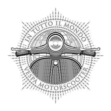 Vespa - In Tutto Il Mondo (grey) by DoubleGood