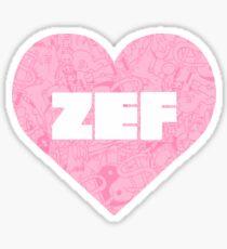 Zef Heart Sticker