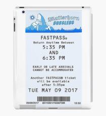 Matterhorn Bobsled Fastpass iPad Case/Skin