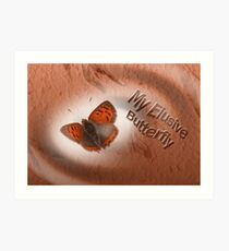 Elusive Butterfly Art Print