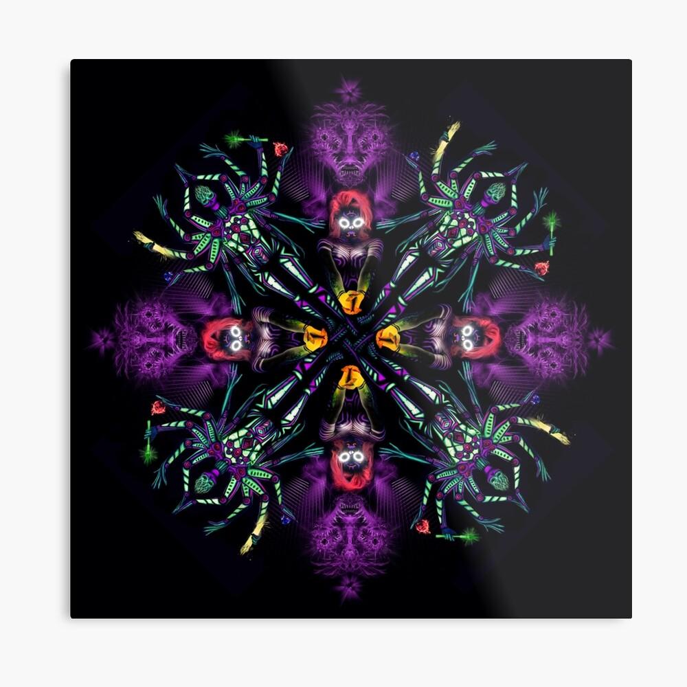 UV Goddess - mandala Metal Print