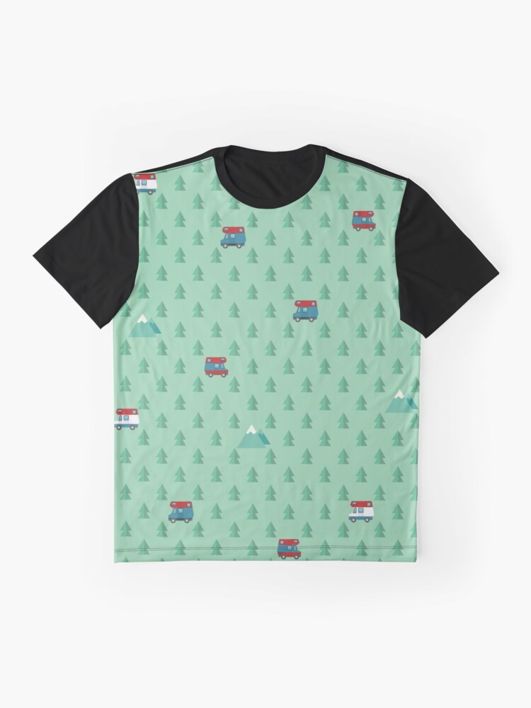 Alternate view of Animal Crossing pocket camp trees campers Graphic T-Shirt