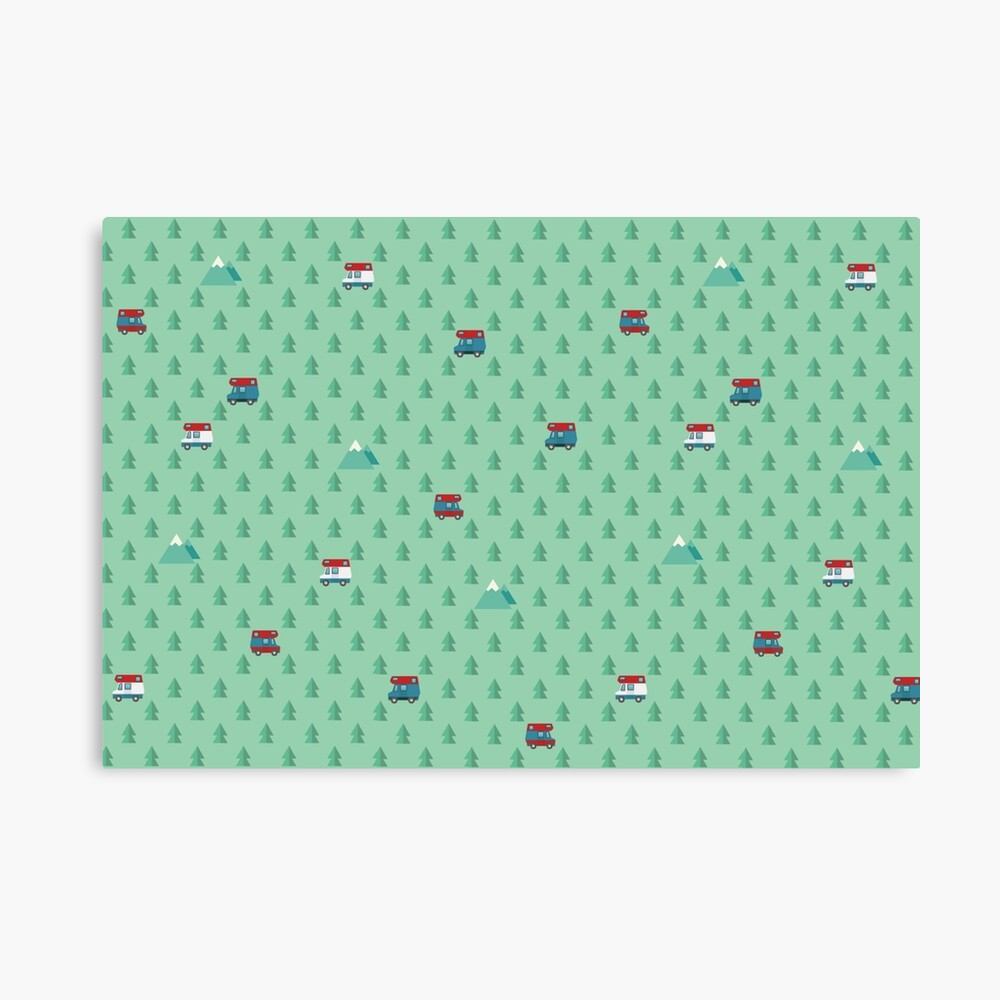 Animal Crossing pocket camp trees campers Canvas Print