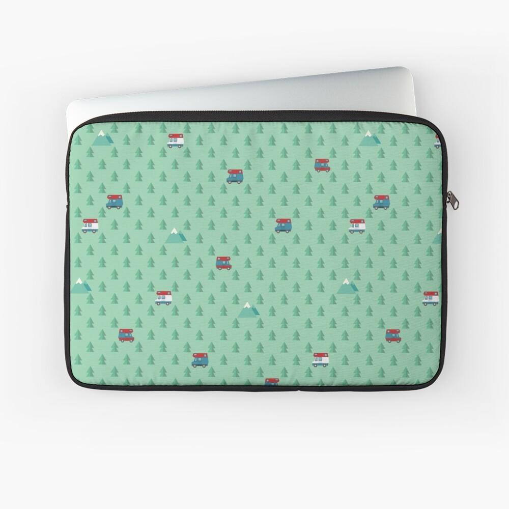 Animal Crossing pocket camp trees campers Laptop Sleeve