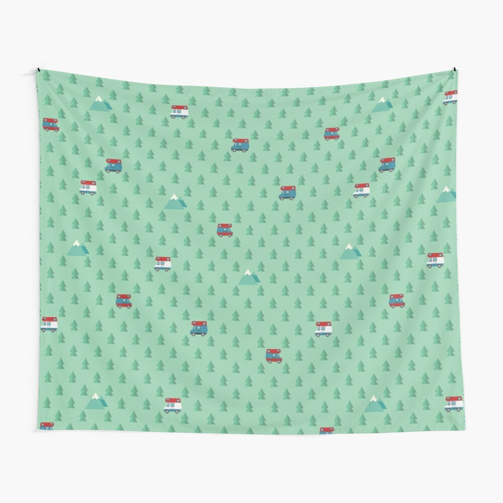 Animal Crossing pocket camp trees campers Wall Tapestry