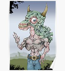 The Monster Wearing Pants (Color) Poster