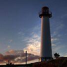 Lighthouse at Sundown  by Shaina Haynes