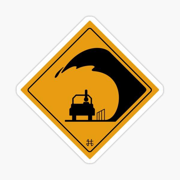 la WAVE ou Carwash BZH ( yellow ) Sticker