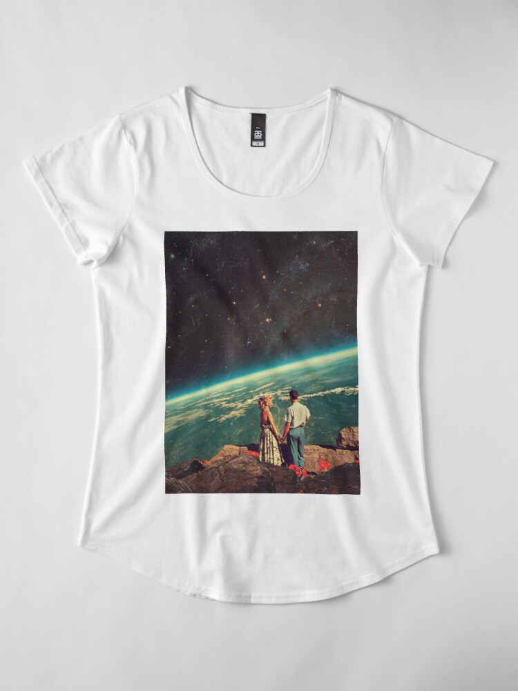 Vista alternativa de Camiseta premium de cuello ancho Amor