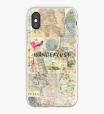 Wanderlust travel art quote iPhone Case