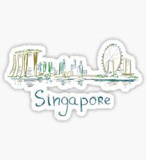 Singapore Panorama Sticker