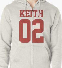 Keith Sport Jersey Zipped Hoodie