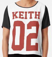 Keith Sport Jersey Chiffon Top