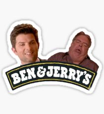 Ben and Jerry Parks and Rec. Sticker