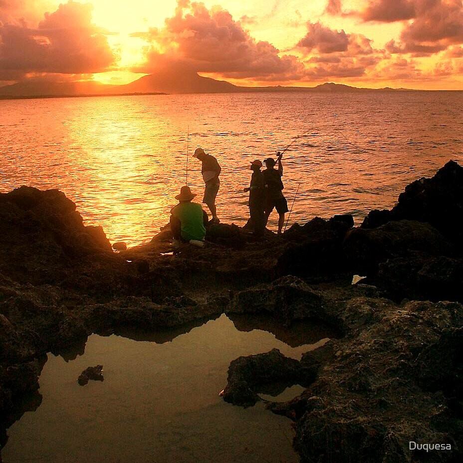 Sunset Fishing by Duquesa