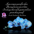 Blaues Orchideen-Desiderata-Zitat von Irisangel