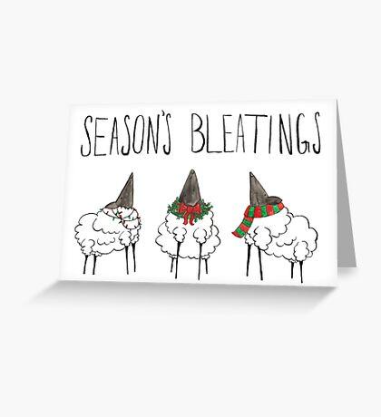 Season's Bleatings Greeting Card