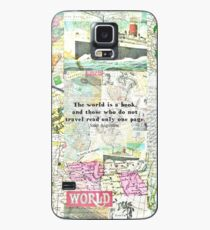 The world is a book TRAVEL QUOTE Case/Skin for Samsung Galaxy