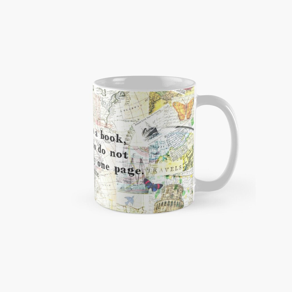 The world is a book TRAVEL QUOTE Mug