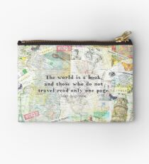 The world is a book TRAVEL QUOTE Studio Pouch